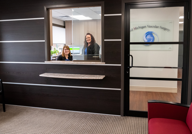 front office of vascular suite